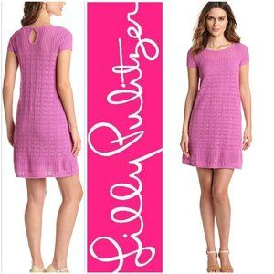 Lilly Pulitzer Dress Crochet Knit Party Bridesmaid